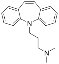 Skeletal formula of depramine