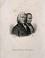 Desault and Bichat. Line engraving by A. F. B. Geille after Wellcome V0006874.jpg