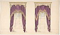 Design for Purple Curtains with Gold Fringes and a Gold and White Pediment MET DP807345.jpg