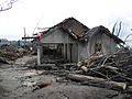 Destroyed house in Cangkringan Village after the 2010 Eruptions of Mount Merapi.jpg