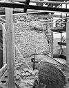 detail muurwerk bij traptoren aan de zuid-zijde dakhoogte -