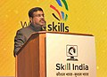 Dharmendra Pradhan addressing at the felicitation & Award ceremony to recognize World Skills Abu Dhabi 2017 Medal & Medallion Winners and Experts, in New Delhi.jpg