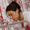 "Diana Cooper installing ""Emerger"".tif"
