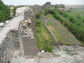 Antoninus (turncoat) - Walls of Amida, modern Diyarbakır, looking north from the eastern wall.