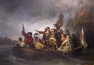 Invasion of Rügen (1678) - Contemporary painting of the Elector's arrival on Rügen