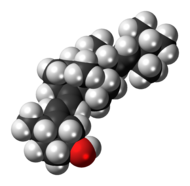 Space-filling model of the dihydrotachysterol molecule