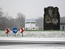 Ehrung Rombergs in Form von Kreiselkunst im Norden Dinklages (Quelle: Wikimedia)