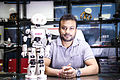 Diwakar Vaish with his development - Manav at A-SET Robotics Lab.jpg