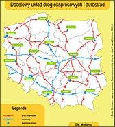 Docelowa siec drog ekspresowych&autostrad w polsce