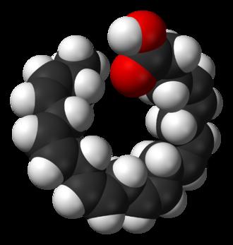 Docosahexaenoic acid - Image: Docosahexaenoic acid 3D sf