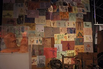 The Time of the Doctor - The drawings the older Doctor is surrounded by, as shown at the Doctor Who Experience.
