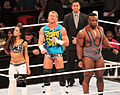 Dolph Ziggler AJ Lee Big E Langston in ring.jpg