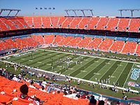Dolphin Stadium in Miami Gardens, home of the Florida Marlins and the Miami Dolphins.
