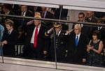 Donald Trump, Mike Pence at Inaugural parade 01-20-17.jpg