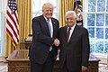 Donald Trump and Mahmoud Abbas in the Oval Office, May 3, 2017 (1).jpg