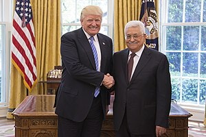 Mahmoud Abbas - Abbas with U.S. President Donald Trump in Washington, D.C., 3 May 2017