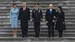 Donald and Melania Trump, Mike and Karen Pence 01-20-17.jpg