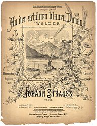 On the beautiful blue Danube, title page
