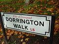 Dorrington Walk sign, Everton.JPG