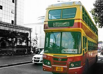 Double-decker bus - A Double Decker bus in Trivandrum,India