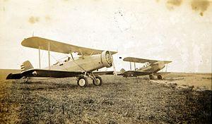 Douglas O-2 - BT-2 (left) and BT-1 at Waco, Texas
