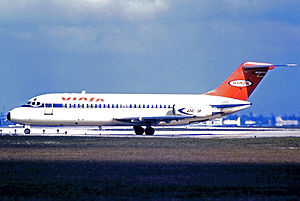 Viasa - Viasa Douglas DC-9-14 operating a scheduled service at Miami International Airport in 1971