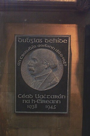 Douglas Hyde - Memorial to Douglas Hyde in St. Patrick's Cathedral, Dublin.