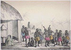 """Jean Baptiste Douville - Illustration from Douville's """"Atlas du Voyage au Congo"""""""