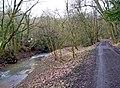 Dowles Brook running alongside a private road - geograph.org.uk - 1724124.jpg