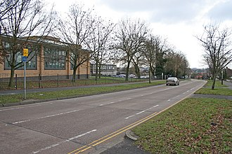 City of Leicester College - Image: Downing Drive, Evington, Leicester geograph.org.uk 107583