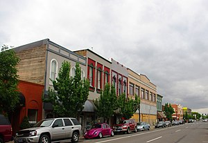 Albany, Oregon - First Avenue west in downtown