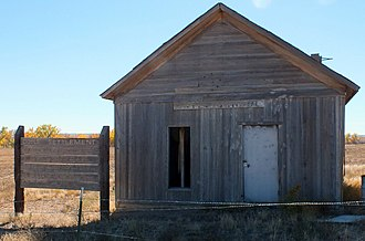 Teresita Sandoval - Schoolhouse at Doyle Settlement, southeast of Pueblo on Doyle Road, listed on the National Register of Historic Places