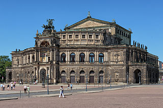 Semperoper Opera house and concert hall in Dresden, Saxony, Germany