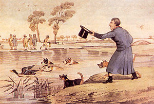 Henry Thomas Alken - Circa 1820: Duck-baiting by Henry Alken