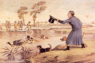 Henry Thomas Alken - Circa 1820: Duck-baiting by Henry Alken