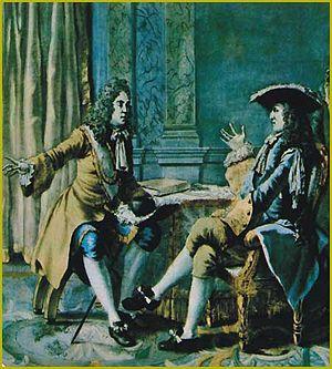 René Duguay-Trouin - Réné Duguay-Trouin telling King Louis XIV of his exploits.