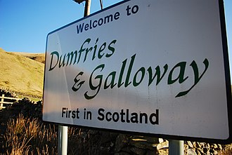 Dumfries and Galloway - Welcome sign