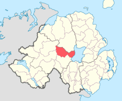 Location of Dungannon Upper, County Tyrone, Northern Ireland.