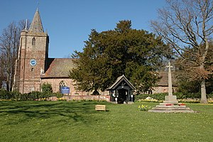 Dymock - Image: Dymock church and War Memorial geograph.org.uk 370028