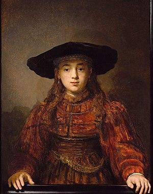 The Jewish Bride - Image: Dziewczyna w ramie obrazu 1