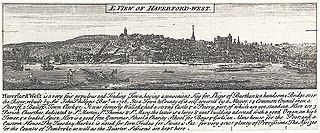 E. view of Haverford-west