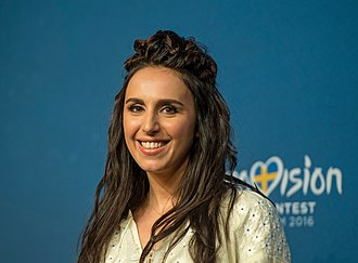 Ukraine in the Eurovision Song Contest 2016 - Jamala during a press meet and greet