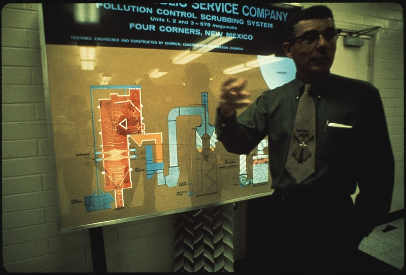 File:EXHIBIT OF POLLUTION CONTROL SYSTEM. AT FOUR CORNERS POWER PLANT - NARA - 544097.tif