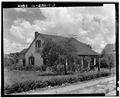 EXTERIOR, OBLIQUE VIEW OF SIDE AND FRONT - Mary Ichmiller House, 803 East Main Street, Columbia, Monroe County, IL HABS ILL,67-COLUM,7-3.tif
