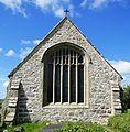 East window (2) of St Cristiolus Llangristiolus.JPG