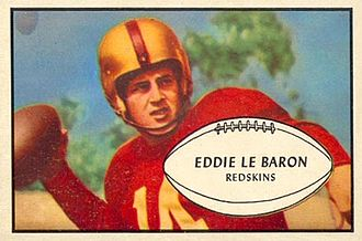 Eddie LeBaron - Image: Eddie Le Baron 1953 Bowman