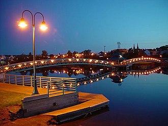 Edmundston - Park and bridge over the Madawaska River