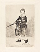 Edouard Manet, Child with Sword, Turned to the Left (L'Enfant à l'épée, tourné à gauche), 1862, NGA 93034.jpg
