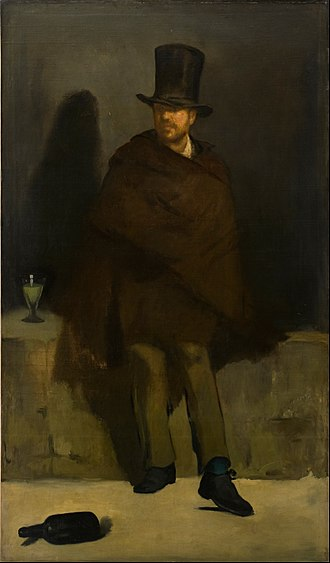 The Absinthe Drinker (Manet painting) - Édouard Manet, The Absinthe Drinker, c.1859