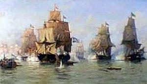 Edoardo De Martino - Naval Battle, July 30, 1826